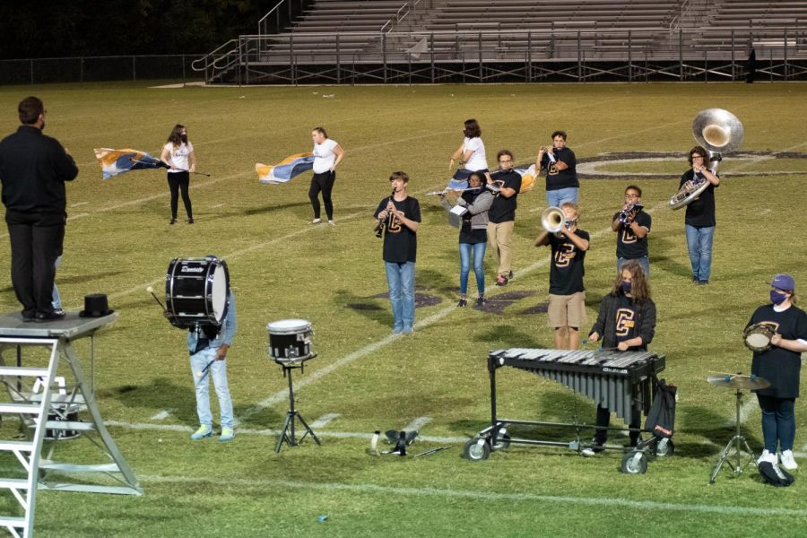PHOTO GALLERY: HOMECOMING 2020 -- The Central Sound of Chattanooga performs their half time show,
