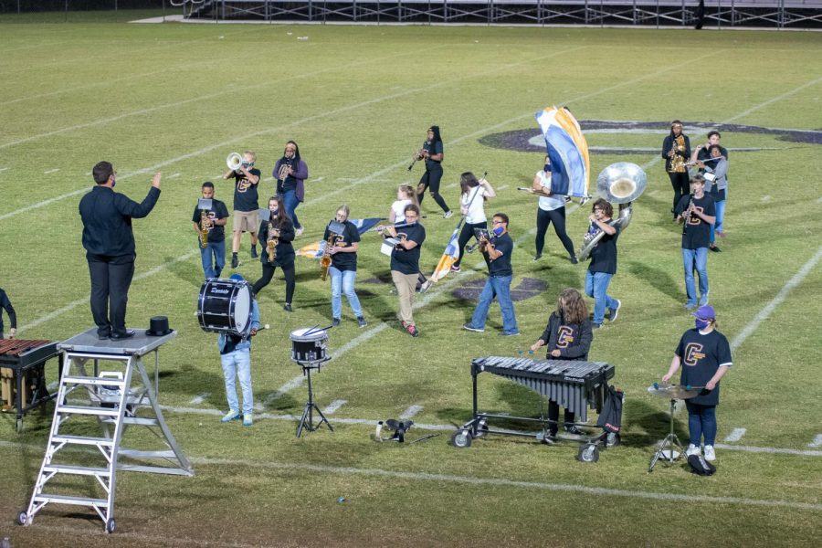 The Central Sound of Chattanooga performs their half time show,