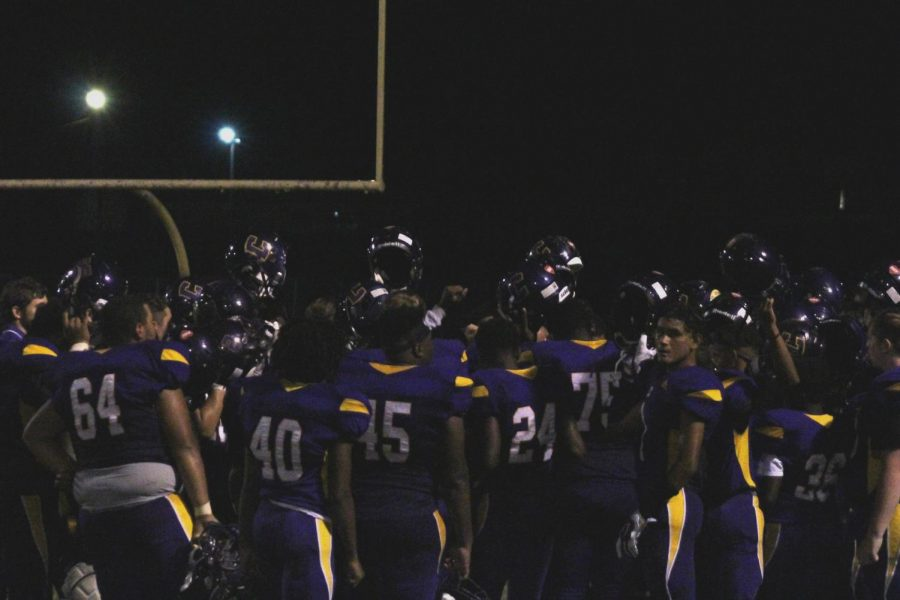 CENTRAL'S 2020-2021 FOOTBALL SEASON COMES TO A CLOSE -- Central High School's football team comes together after the team's wins against Sequoyah.