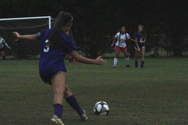 PHOTO GALLERY: CENTRAL SOCCER FOR 2020-21 SEASON -- Junior Karleigh Schwarzl takes a free kick down the field.