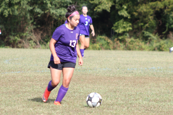 PHOTO GALLERY: CENTRAL SOCCER FOR 2020-21 SEASON -- Junior Janetth Colunga dribbles the ball down the field.
