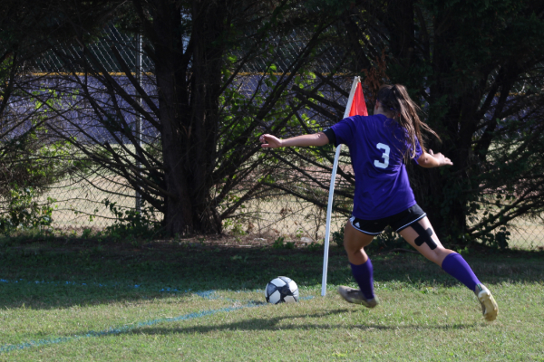 PHOTO GALLERY: CENTRAL SOCCER FOR 2020-21 SEASON -- Junior Karleigh Schwarzl takes a corner kick.