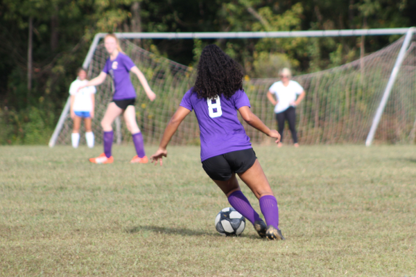 PHOTO GALLERY: CENTRAL SOCCER FOR 2020-21 SEASON -- Freshman Chloee Cannon dribbles the ball down the field looking for a pass.