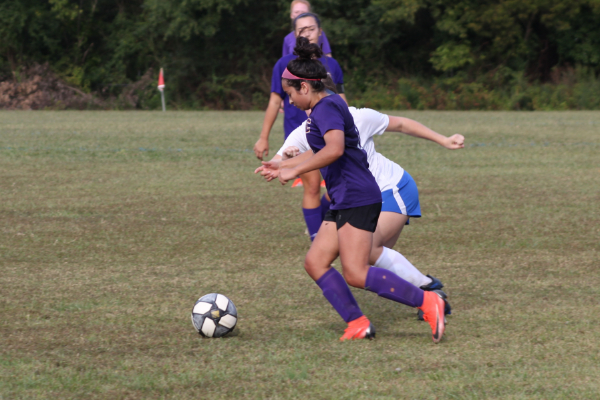 PHOTO GALLERY: CENTRAL SOCCER FOR 2020-21 SEASON -- Junior Janetth Colunga continues to fight to keep possession.