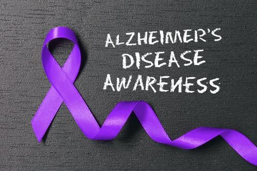 ALZHEIMER'S AWARENESS MONTH -- The month of November shines a light on dementia. This is symbolized by a purple ribbon.