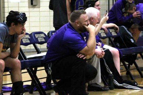 A LOOK INTO THE 2020-21 CENTRAL WRESTLING SEASON -- In this 2019 file photo, Coach Ryan Mallory looks upon the wrestling mat as the Central wrestling team competes.