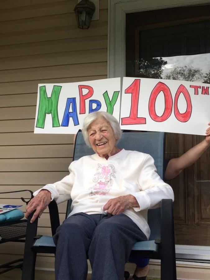 RUTH+RAMSEY+CELEBRATES+100+--+Alumna+Ruth+Ramsey+celebrates+her+100th+birthday.