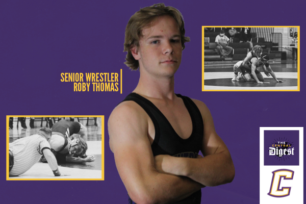 NEW WRESTLER SENIOR ROBY THOMAS -- Senior Roby Thomas looks use his experience to help Centrals younger wrestlers grow.