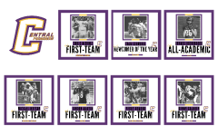 SEVEN CENTRAL FOOTBALL PLAYERS RECEIVED DISTRICT AWARDS FOR THE 2020 SEASON -- Central's award-receivers are listed with their respective award.