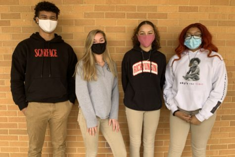 STUDENTS PREPARE FOR DEBATE COMPETITION -- The students that are a part of Central