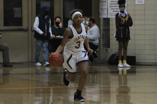 PHOTO GALLERY: CENTRAL GIRLS' BASKETBALL 2020-21 -- Sophomore Jakiyah Robinson dribbles down the court.