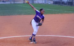 TOUGH START TO THE SEASON -- Mikiah Tate pitching in Monday's opening day game versus CSAS.