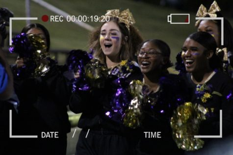 CENTRAL BRINGS IN NFHS LIVE STREAMING -- Central cheerleaders cheer on the Pounders.