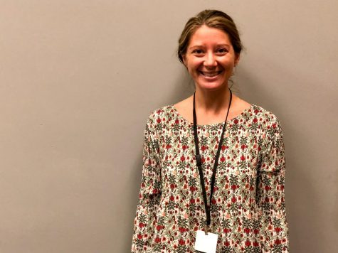 BREANN DUNCAN SERVES AS NEW CENTRAL SOCIAL WORKER -- Breann Duncan enjoys serving students in her new position.