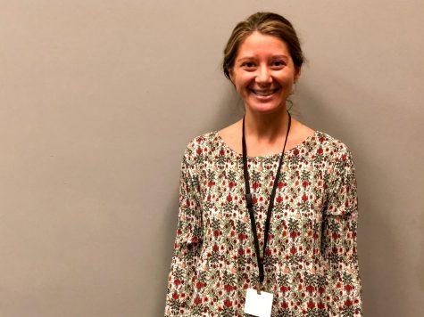 BREANN DUNCAN SERVES AS NEW CENTRAL SOCIAL WORKER -- Breann Duncan enjoys serving students in her new position.