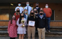DIGEST NAMED WEBSITE OF DISTINCTION -- The Central Digest staff pictured with their awards.