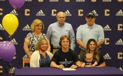 ROBY THOMAS SIGNS TO WRESTLE AT KAISER UNIVERSITY -- Roby Thomas pictured with family during his Signing Party ceremony.