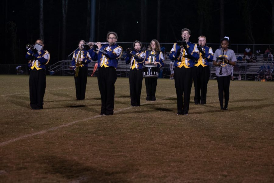 CENTRAL SOUND OF CHATTANOOGA PERFORMS HARRY POTTER SHOW FOR 2021 MARCHING SEASON -- The Central Sound of Chattanooga prepares to perform at half--time.